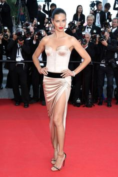 Adriana Lima in alexandre Vauthier COuture  at Cannes Film Festival