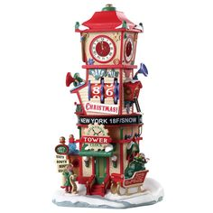 DetailsFrom the Santa's Wonderland collection, Countdown Clock Tower measures 14 inches in height. Featuring moving wheels and count down numbers this piece makes a great addition to any village display. Village Lemax, Lemax Christmas Village, Christmas Villages, Christmas Houses, Miniature Christmas, Buy Christmas Tree, Christmas Themes, Christmas Crafts, Christmas Decorations