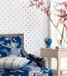 A blue and white room is always fresh