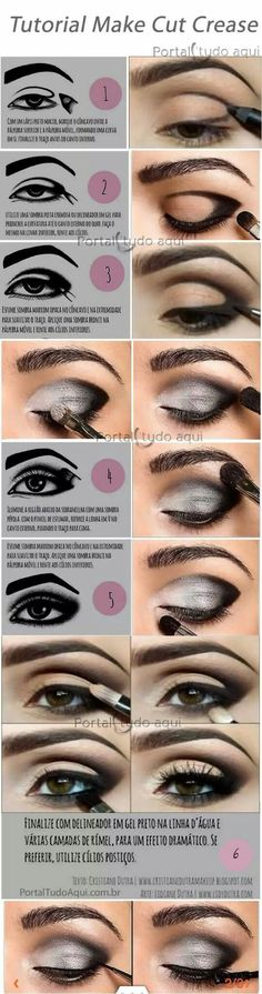 Find out what it is and how to make a makeup using the Cut Crease technique, ideal for brides or parties or for those who want a dramatic and impactful make-up. makeup augen hochzeit ideas tips makeup Cut Crease Makeup, Makeup Eyeshadow, Eyeshadows, Orange Eyeshadow, Eyeshadow Palette, Glitter Eyeshadow, Eyeliner Pen, Cream Eyeshadow, Flawless Makeup