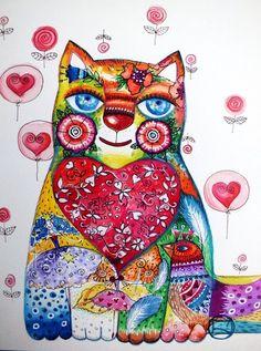 coeur de chat by oxana zaika   ArtWanted.com