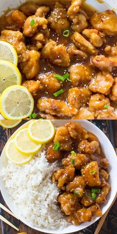 essen /Rezepte Crispy Honey Lemon Chicken is a restaurant worthy meal, that can be made at home in just 30 minutes! Crispy, sticky and full of honey lemon flavor. Indian Food Recipes, Asian Recipes, Healthy Recipes, Easy Chinese Recipes, Jamaican Recipes, Meat Recipes, Hibachi Recipes, Mini Pizza Recipes, Thai Curry Recipes