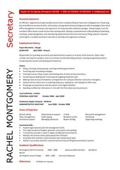 1000 images about resume on pinterest resume examples secretary and legal administrative