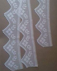 (notitle) - Mummy and Annie - Crochet Doily Rug, Crochet Edging Patterns, Crochet Lace Edging, Crochet Curtains, Crochet Dishcloths, Crochet Borders, Lace Patterns, Filet Crochet, Baby Knitting Patterns