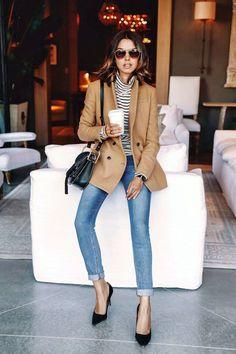 blazer alfaiataria com jeans