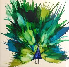 Résultats de recherche d'images pour « how to do a peacock feather in alcohol ink Alcohol Ink Tiles, Alcohol Ink Crafts, Alcohol Ink Painting, Peacock Painting, Peacock Art, Peacock Feathers, Watercolor Peacock, Blow Paint, Sharpie Art