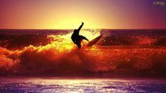 Papel de Parede Surf no Por do Sol