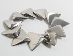 Bracelet designed by Bent Gabrielsen for Hans Hansen, Denmark c.1960, Sterling Silver