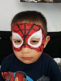 Spiderman Mask - Less than thrilled child :-P