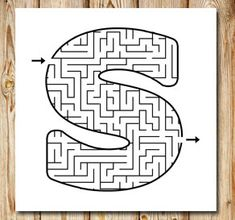 maze_s. English Worksheets For Kids, Math Worksheets, Printable Mazes, Free Printables, Letter Maze, Letters, Dinosaur Theme Preschool, Mazes For Kids, Maze Game