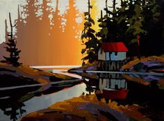 Cabin at Canoe Lake, by Michael O'Toole