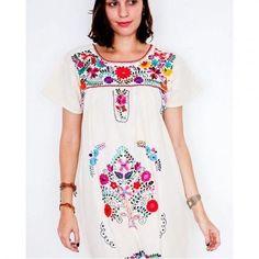 Mexicaine mini robes brodée en coton robe dété boho par Floresche