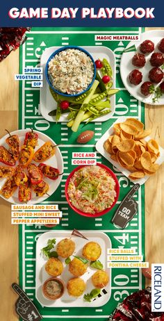 Riceland is here bringing you the best football game day party snacks! Kickoff the big game with the bold flavors of these Rice Balls Stuffed with Fontina Cheese, and other recipes your guests will lo Other Recipes, Game Recipes, Mini Sweet Peppers, Fontina Cheese, Cheese Ingredients, Onion Soup Mix, Rice Balls, Recipe Mix, Cooking Turkey