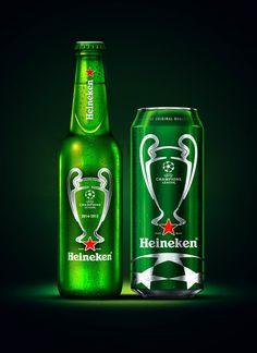 Heineken UEFA Champions League Beer — The Dieline - Package Design Resource