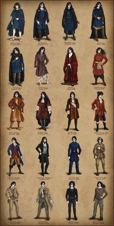 Mens fashions through the centuries