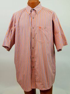 Wrangler George Strait 100% Cotton Stripped Shirt Mens XL EX Used #Wrangler #ButtonFront
