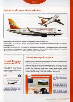 https://flic.kr/p/QkUKJS | Drukair - Royal Bhutan Airlines Tashi Delek Inflight Magazine 2015 March-April, News |  (Might be you have some inflight magazines or can take away one from your flight, please forward them to the collection for archive. Especially thanks.)