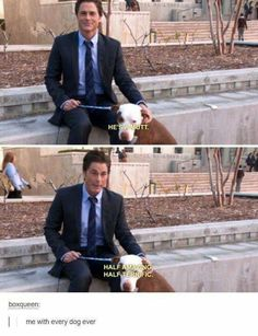 Chris Trager parks and rec! One of my fave tv shows Parks And Rec Memes, Parks And Recs, Parks And Recreation, Movies Showing, Movies And Tv Shows, Chris Traeger, Nerd, Favorite Tv Shows, Puppy Love