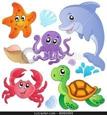 Image result for sea animal clipart