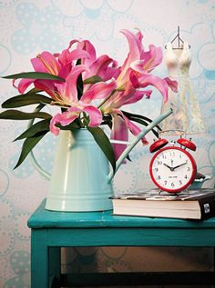 I bet it smells lovely Decor, Recycling, Clock, Interior Design Inspiration, Home Decor, Inspiration, Mantel Clock, Interior Design, Flower Vases