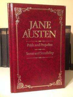 Gilt Leather Pride & Prejudice/Sense & Sensibilty By Jane Austen