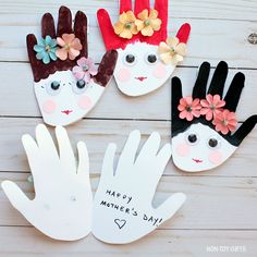 Mother's Day handprint craft - kid-made card for mom