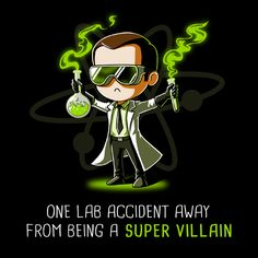 Super Villain - This official The Big Bang Theory t-shirt featuring Sheldon Cooper is only available at TeeTurtle!