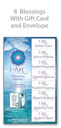 I am aligned with beauty. I am infinite power. I am kind to all beings. I am capable and responsible. I am peaceful and prosperous.