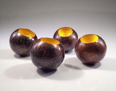 Copper Orbs w/ 23K Gold