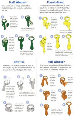 Tie A Tie, need to remember this for the very few times Mike actually wears one.