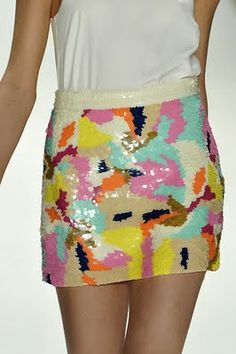 13f42a84133 Multi-colored sequin skirt perfect for spring. The Whole Homestead