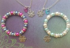Disney Frozen Inspired Jewellery ~ Princess Anna or Elsa ~ Necklace and Bracelet