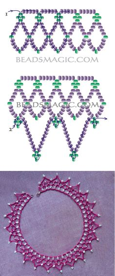 Free pattern for necklace Junona | Beads Magic