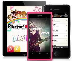 Information architecture and user interface for the most popular mobile operating systems.