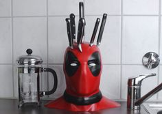 Deadpool Knife Block: Stabbed in the Head
