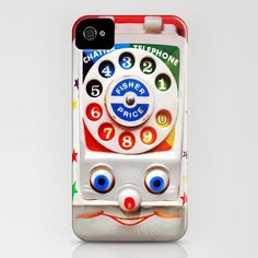 Retro Vintage smiley kids Toys Dial Phone iPhone 4 4s 5 5s 5c, ipod, ipad, pillow case and tshirt iPhone & iPod Case
