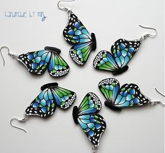 "Butterfly earrings from ""agardimirka"" or ""miri"" - a Slovakian artist."