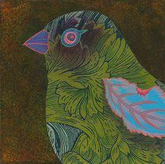 Liz Yarosz-Ash,  Avem #1,  5 x 5, Acrylic on panel,  2013