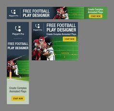 Banner ads for online american football/basketball play designer for Playart Pro Basketball Plays, Football And Basketball, Free Football, Web Banner, American Football, Animation, Ads, Design, Football