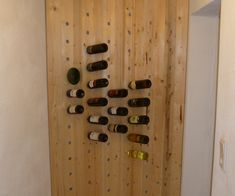 Hello World! This is my first Instructable, so please be patient if I don't describe everything perfectly :-) This is an easy but efficent way to make a wine shelf yourself. This is mine, mounted, oiled and filled up with some good wine bottles.