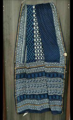 Indigo print Chanderi silk Sarees available now. Chanderi Silk Saree, Silk Sarees, Indigo Prints, Quilts, Blanket, Elegant, Crochet, Online Clothes, Cotton