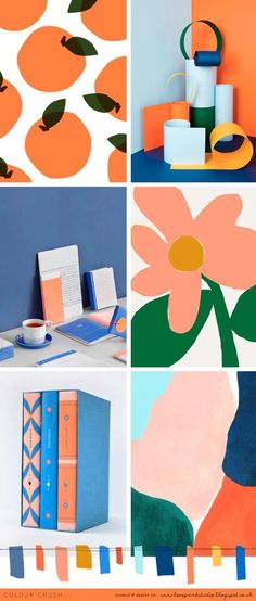 In honour of such a gloriously sunny weekend here in the UK, I thought we'd start the week off with a nice bright colour crush. Bright and Colourful Brand Inspiration For Elizebeth Ellery // Branding, Photography and Website Design Blue Color Schemes, Colour Pallette, Bright Colour Palette, Bright Colours, Summer Colours, Magic Room, Deco Orange, Illustration Art, Illustrations