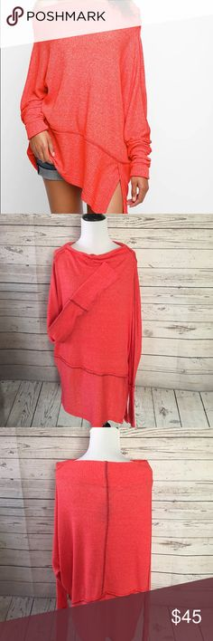 Free People -We the People Londontown Pullover This is a great comfy super soft Thermal top.You can wear this off the shoulder or as a cowl neck. Free People Sweaters Cowl & Turtlenecks