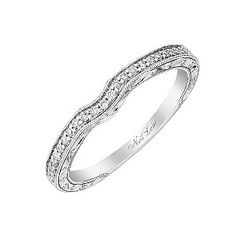 Created by designer to the stars, Hollywood's Neil Lane, this beautiful 14ct white gold band is set with 10 points of diamond and finished with elegant milgrain detail. A show stopping wedding ring.