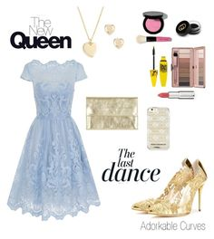 """""""The Cinderella look"""" by adorkable-curves ❤ liked on Polyvore featuring Chi Chi, Oscar de la Renta, J.Crew, Givenchy, Gucci, Maybelline, Bobbi Brown Cosmetics, Topshop, Rebecca Minkoff and Anja"""