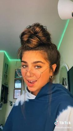 Girl With Green Eyes, Useful Life Hacks, Stupid Funny Memes, Messy Bun, Hair Designs, Hair Hacks, Cute Hairstyles, Skin Care Tips, Stylish Outfits