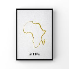 Create a sophisticated ambience in your space with a statement poster that shows the map of Africa FRAME NOT INCLUDED printed on 300GSM card paper to a Satin finish Please allow 2-4 days for posters to be processed Printable Maps, Printable Wall Art, Printables, Personalised Posters, Map Posters, World Map Decor, Globe Decor, Map Wall Decor, Country Maps