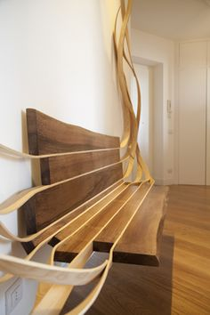Arboreus - a solid wood bench made by Rota-Lab