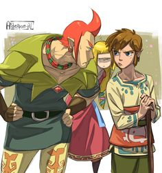 -.- !! -- Skyward Sword - Groose, Link and Zelda