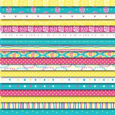 Digital Washi Tape FREE with Scrapbooking Paper Pack - Hearts & Flowers by DreamingOnAStar